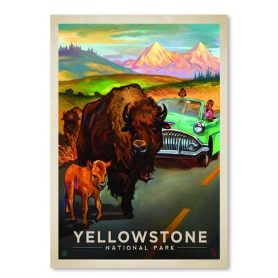 Americanflat 'KC NP Yellowstone Bison' by Joel Anderson Vintage Advertisement