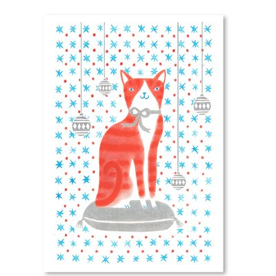 Americanflat 'Orange Holiday Cat' by Advocate Art Graphic Art