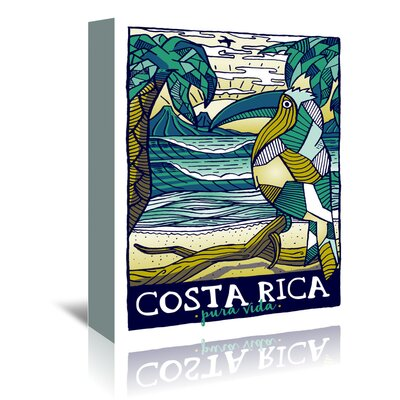 Americanflat 'Costaricapattern' by Matthew Schnepf Vintage Advertisement Wrapped on Canvas