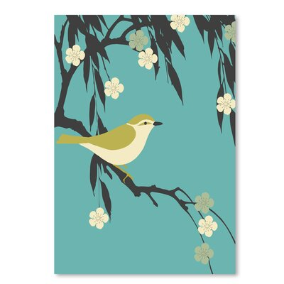 Americanflat 'Bird on Branch' by Ramneek Narang Graphic Art