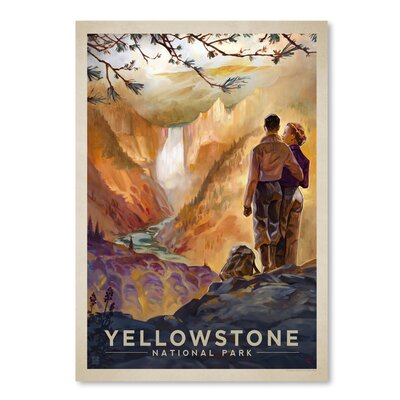 Americanflat 'KC NP Yellowstone2' by Joel Anderson Vintage Advertisement