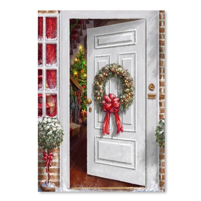 Americanflat 'Home Holiday Entrance' by Advocate Art Art Print