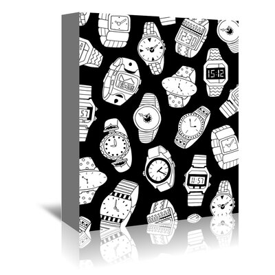 Americanflat 'Watches' by Advocate Art Graphic Art Wrapped on Canvas