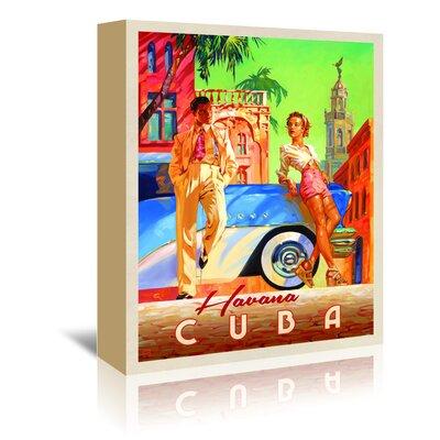 Americanflat 'Havana Cuba' by Joel Anderson Vintage Advertisement Wrapped on Canvas