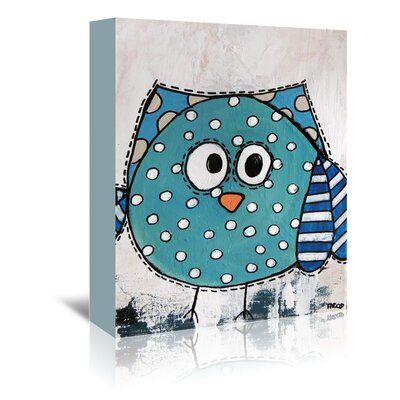 Americanflat Blue Birdz' by Annie Rodrigue Art Print Wrapped on Canvas
