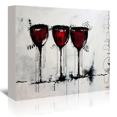 Americanflat 'Vino 3' by Annie Rodrigue Art Print Wrapped on Canvas