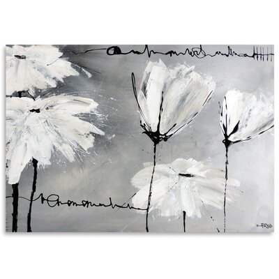 Americanflat 'White Flowers' by Annie Rodrigue Art Print