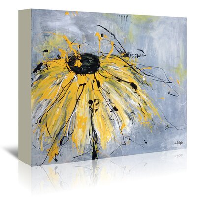 Americanflat 'Yellow Flower' by Annie Rodrigue Art Print Wrapped on Canvas