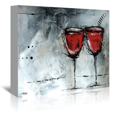 Americanflat Vino 7' by Annie Rodrigue Art Print Wrapped on Canvas