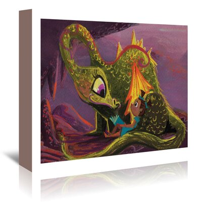 Americanflat 'Dragon Read' by Cara Kozik Art Print Wrapped on Canvas