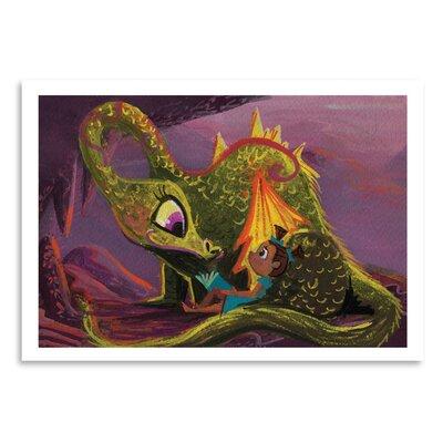 Americanflat Dragon Read' by Cara Kozik Art Print