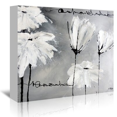 Americanflat 'White Flowers' by Annie Rodrigue Art Print Wrapped on Canvas