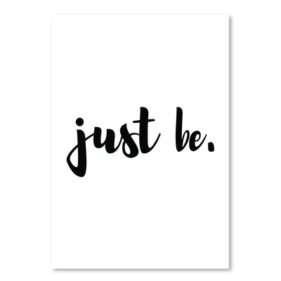 Americanflat 'Just Be' by Pop Monica Typography