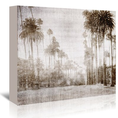 Americanflat 'Driving in Beverly Hills - Sepia' by Golie Miamee Photographic Print Wrapped on Canvas
