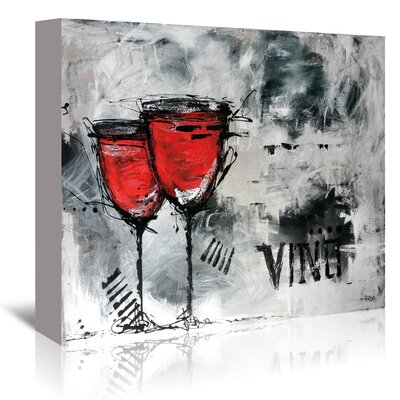 Americanflat 'Vino 8' by Annie Rodrigue Art Print Wrapped on Canvas