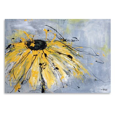 Americanflat 'Yellow Flower' by Annie Rodrigue Art Print
