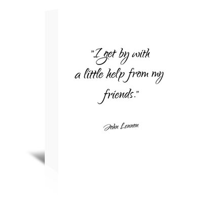 Americanflat 'John Lennon-Friends' by Pop Monica Typography Wrapped on Canvas