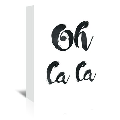 Americanflat 'Oh La La' by Pop Monica Typography Wrapped on Canvas