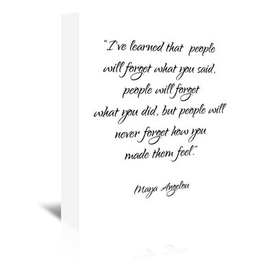 Americanflat 'Maya Angelou' by Pop Monica Typography Wrapped on Canvas