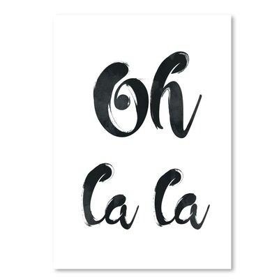 Americanflat 'Oh La La' by Pop Monica Typography
