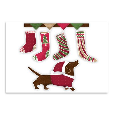 Americanflat 'Santa Dog2' by Kristin Van Handel Graphic Art