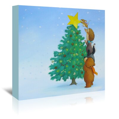 Americanflat 'Christmas Tree Star' by Advocate Art Art Print Wrapped on Canvas