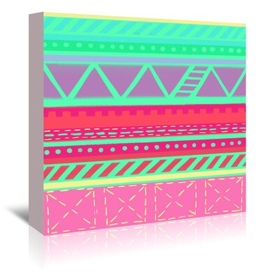 Americanflat 'Beach Babe Stripes' by Cara Kozik Graphic Art Wrapped on Canvas
