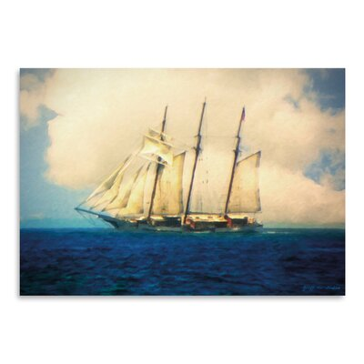 Americanflat Tall Ship' by Graffi Tee Studios Graphic Art