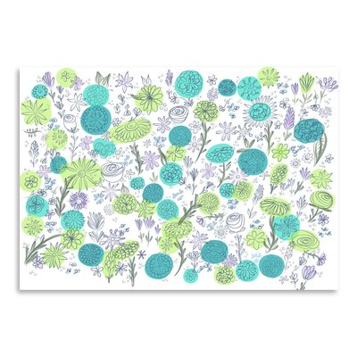 Americanflat Floral Blues' by Marian Nixon Graphic Art