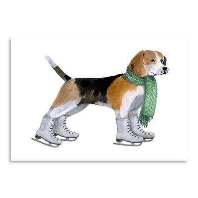 Americanflat 'Dog with Green Scarf' by Kristin Van Handel Art Print
