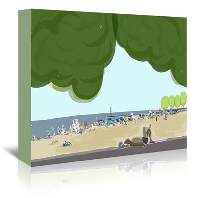 Americanflat 'Foster Beach Trees 2' by Marian Nixon Art Print Wrapped on Canvas