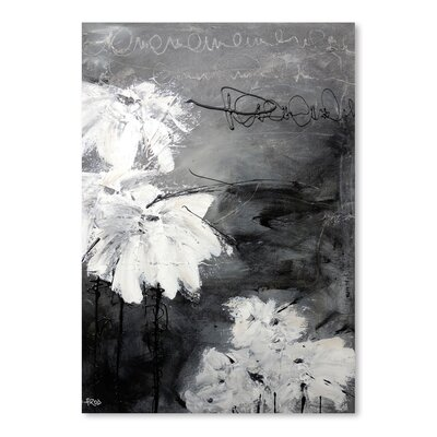 Americanflat 'White Little Flowers' by Annie Rodrigue Art Print