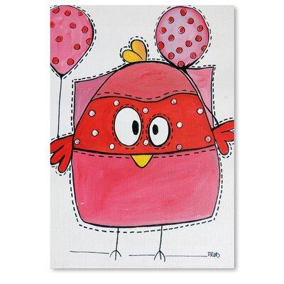 Americanflat Pink Birdz 1' by Annie Rodrigue Art Print