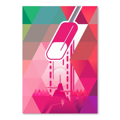 Americanflat 'Raspberry Popsicle' by Spires Graphic Art
