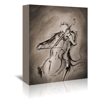 Americanflat 'The Cellist 1' by Marc Allante Art Print Wrapped on Canvas