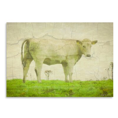 Americanflat White Cow' by Graffi Tee Studios Graphic Art