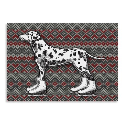 Americanflat 'Dog on Ice-Skates' by Kristin Van Handel Graphic Art