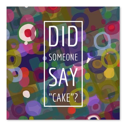 Americanflat 'Say Cake 4' by Marian Nixon Graphic Art