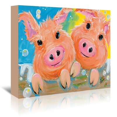 Americanflat 'Pig Duo' by Terri Einer Art Print Wrapped on Canvas