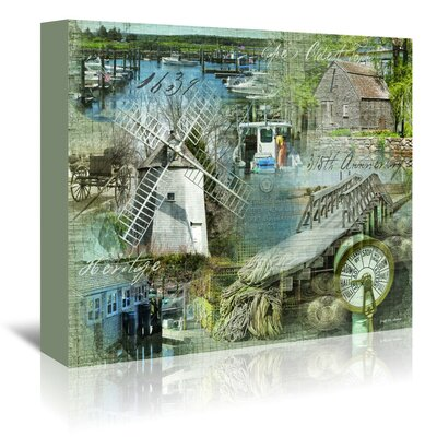 Americanflat 'Time Stands Still' by Graffi Tee Studios Graphic Art Wrapped on Canvas