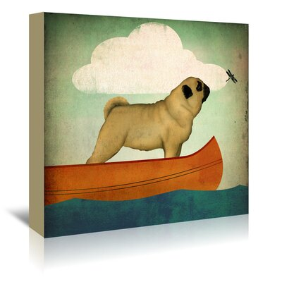 Americanflat 'Pug Canoe' by Wild Apple Art Print Wrapped on Canvas