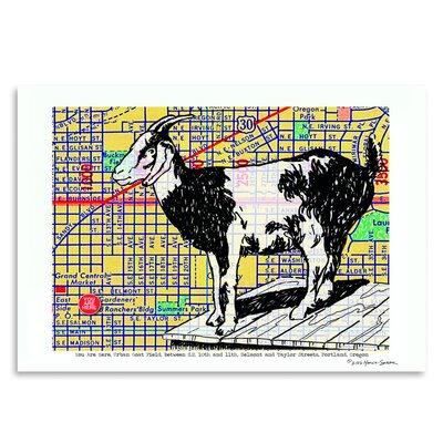 Americanflat 'Urban Goat Portland' by Lyn Nance Sasser and Stephen Sasser Graphic Art