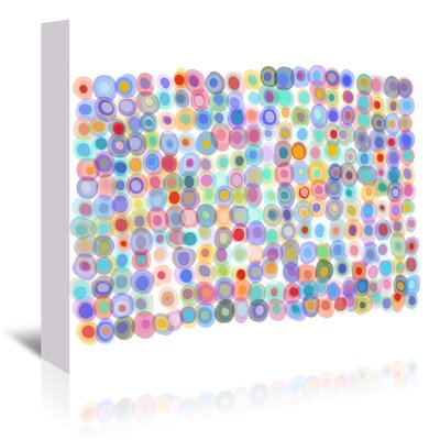 Americanflat Dots A Gogo2' by Marian Nixon Graphic Art Wrapped on Canvas