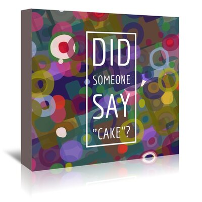 Americanflat 'Say Cake 4' by Marian Nixon Graphic Art Wrapped on Canvas