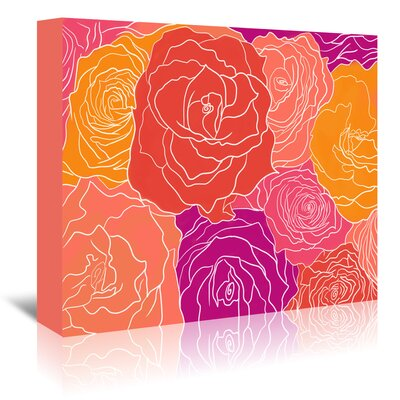 Americanflat Roses' by Ramneek Narang Graphic Art Wrapped on Canvas