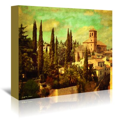 Americanflat 'Granada Aqua Vista' by Graffi Tee Studios Art Print Wrapped on Canvas