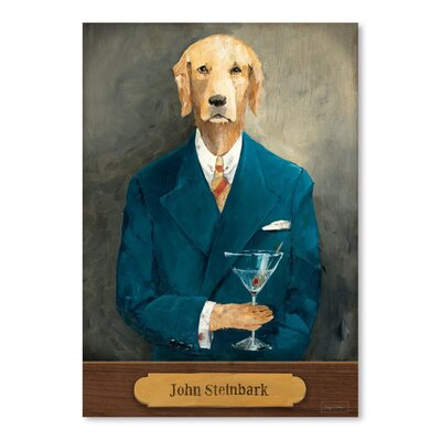Americanflat John Steinbark with Plaque' by Wild Apple Graphic Art