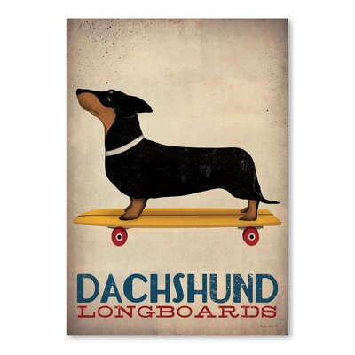 Americanflat 'Dachshund Longboards' by Wild Apple Graphic Art