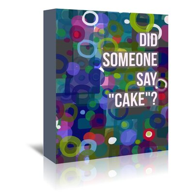 Americanflat 'Did Cake' by Marian Nixon Graphic Art Wrapped on Canvas