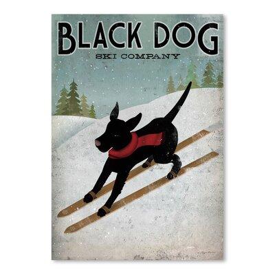 Americanflat 'Black Dog Ski' by Wild Apple Graphic Art